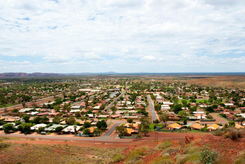 Rural township drone photo